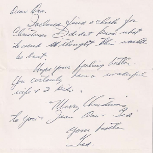 Ted Williams letter